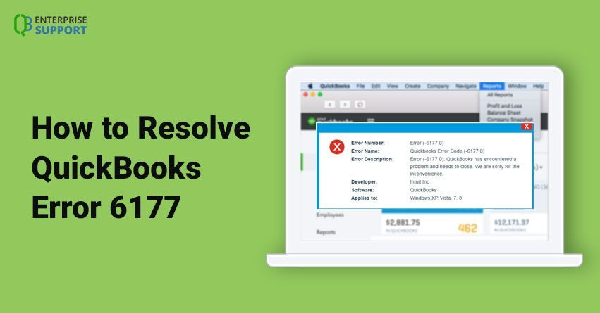 QUICKBOOKS ERROR CODE 6177 | For help call at +1-888-986-7735