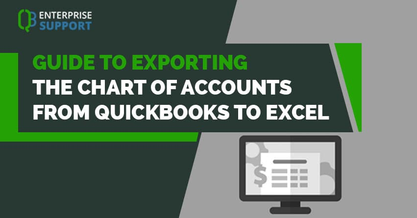 Guide To Exporting The Chart Of Accounts From Quickbooks Excel Jpg