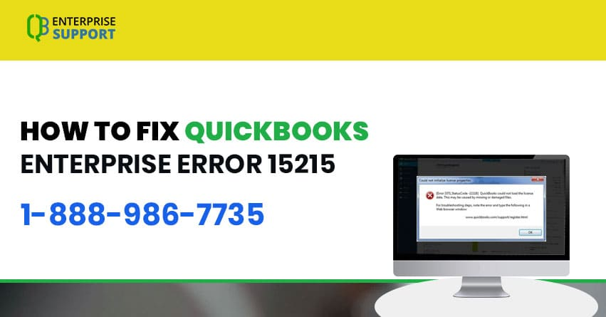 Fix QuickBooks Error 15215 - Resolve Support | 1.888.986.7735